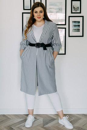 женский кардиган olga style, серый