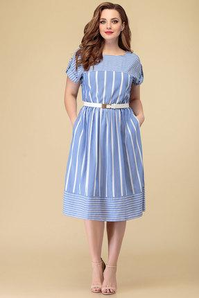 женское повседневные платье дали, голубое