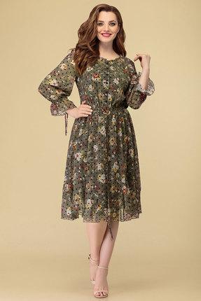 женское повседневные платье дали, хаки