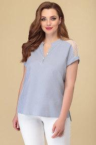 Блузка Дали 4361 серо-голубой