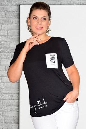 женская майка needle ревертекс, черная