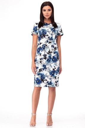 женское платье для офиса anelli, синее
