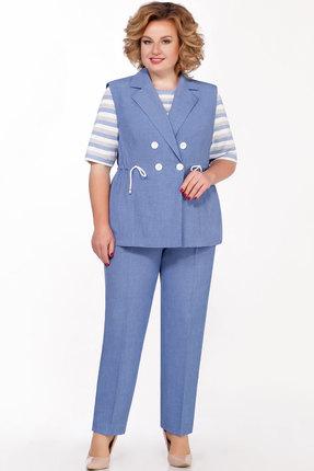 женский брючный костюм emilia, голубой