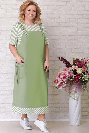 женское повседневные платье aira style, зеленое