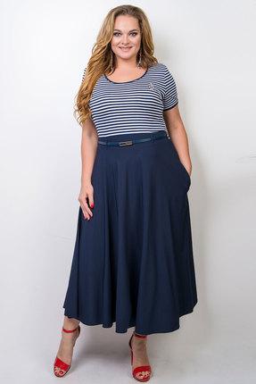 женское повседневные платье tricotex style, синее