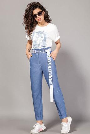 женские брюки сч@стье, синие