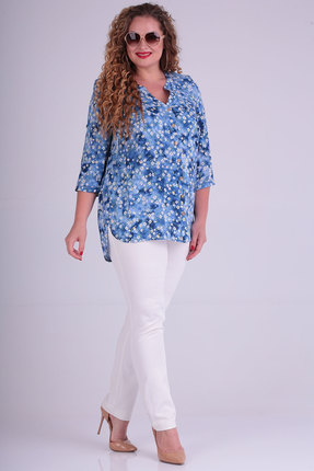 женская блузка sovita, голубая