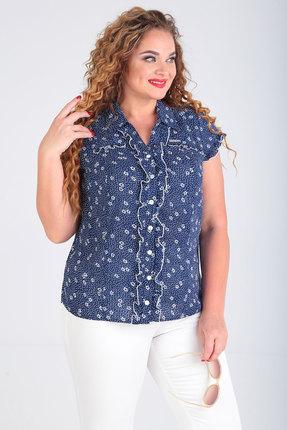 женская блузка sovita, синяя