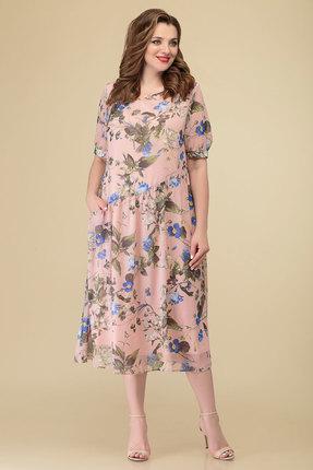 женское повседневные платье дали, розовое