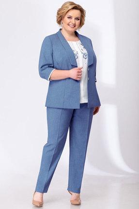 женский брючный костюм elady, синий