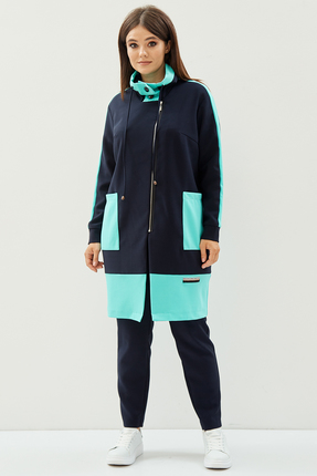 женский спортивный костюм anastasia mak, синий