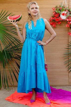 женское повседневные платье vesnaletto, голубое