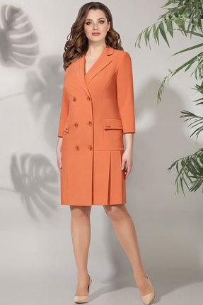 женское платье для офиса багираанта, оранжевое