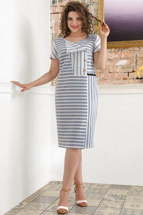 женское повседневные платье avanti erika, голубое