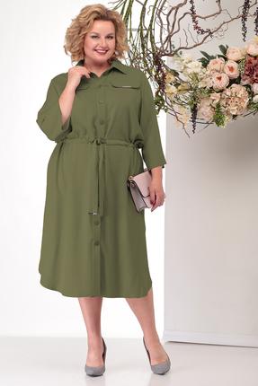 женское повседневные платье michel chic, хаки