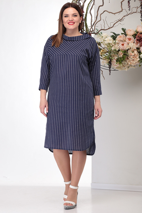 женское повседневные платье michel chic, синее