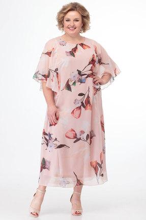 женское вечерние платье anelli, персиковое