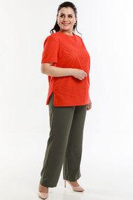 Комплект брючный Belinga 2054 красный с хаки