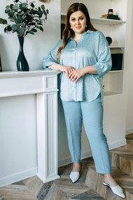 Комплект брючный Olga Style с670 голубой