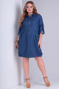 Платье Ollsy 1411 синие тона