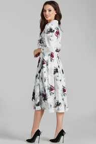 Платье Teffi style 1425 молочно-бордовый