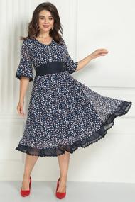 Платье Solomeya Lux 705-1 темно-синий с красным