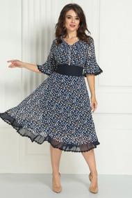 Платье Solomeya Lux 705-1 темно-синий с желтым
