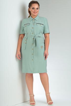 Платье Milana 219-1 бирюзовые тона