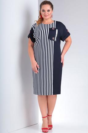 Платье Milana 225 черно-белый