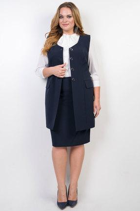Комплект юбочный TricoTex Style 9517 т синий