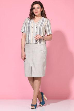 Комплект юбочный Lady Style Classic 2126/1 серые тона