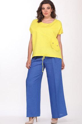 Комплект брючный Bonna Image 257.1 жёлтый+василёк