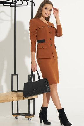 Комплект юбочный Ришелье 664.2 коричневый