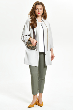 Куртка TEZA 1239 серые тона