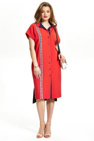 Платье TEZA 1344 красный