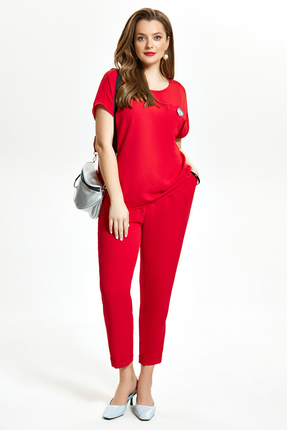 Комплект брючный TEZA 1475 красный
