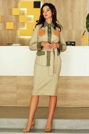 Комплект юбочный Мода-Юрс 2505 зеленый