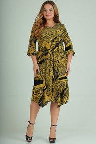 Платье Elga 01-669 горчица