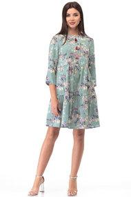 Платье Anelli 833 бирюза