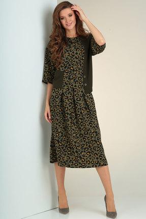 Комплект юбочный Viola Style 2646 хаки