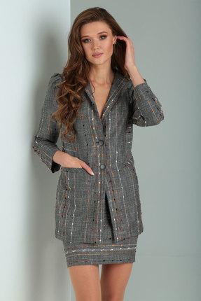 Комплект юбочный Viola Style 2647 серые тона