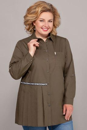 женская рубашка emilia, хаки