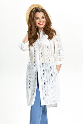 женская блузка teza, молочная