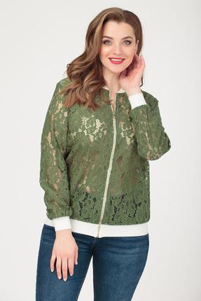 Куртка Anastasia 416.6 зеленые тона