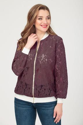 Куртка Anastasia 416.5 бордовые тона