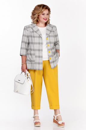 Комплект брючный Pretty 1105 серый с желтым