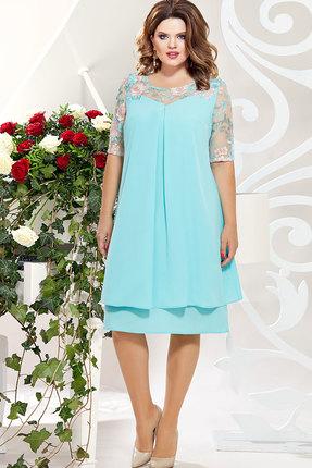 Платье Mira Fashion 4828 голубой