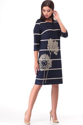 Платье ТАиЕР 890 тёмно-синий