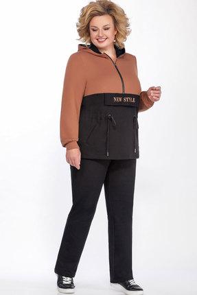 Спортивный костюм Теллура-Л 1507 чёрный+коричневый
