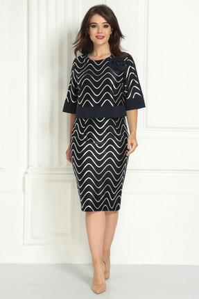 Платье Solomeya Lux 721 темно-синий с серебром